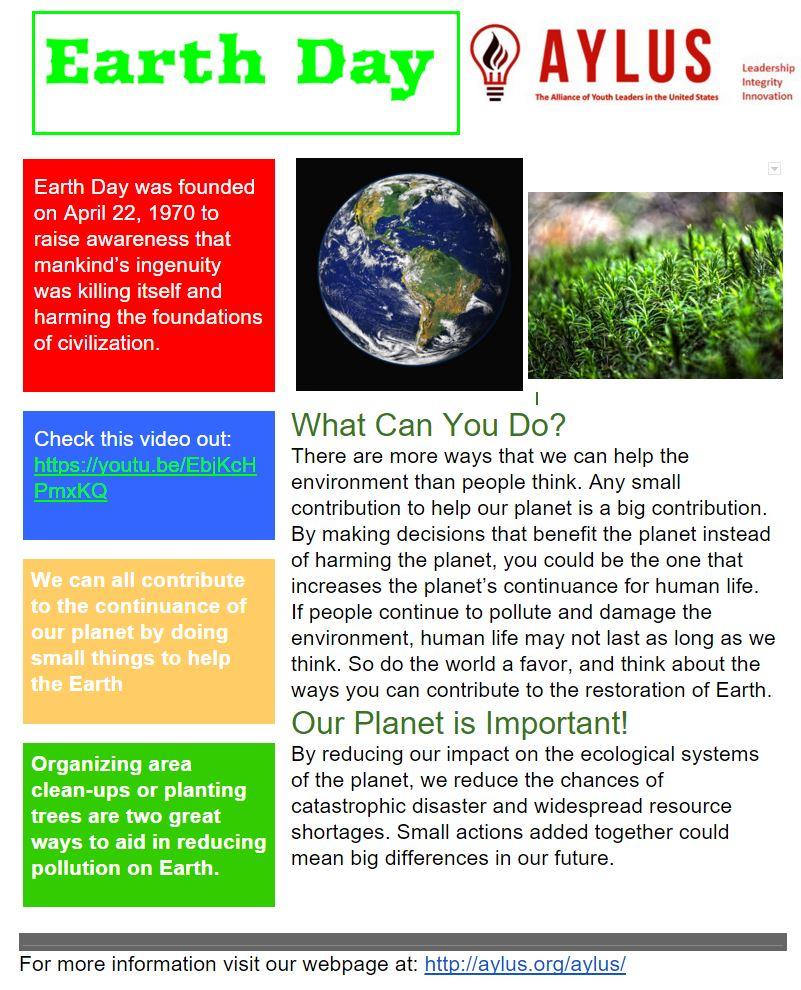 earth day essay in english Read the essay on 'world earth day' celebration let us commemorate earth day as it should be - by celebrating the earth and its abundance, by pledging to protect the greenery, the natural resources, the beauty and the bounty that our planet has generously bestowed upon us, by translating our vision.