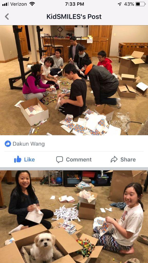 Columbus Branch Organized Goodies Bags for Kids Dental